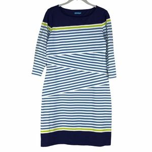 J McLaughlin Nicola Asymmetric Stripe Ruffle Dress